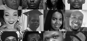 Portraits of Green Library Exhibit about Black Lives Matter movement